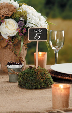 4-pack Chalkboard wood Stake signs - Knot and Nest Designs
