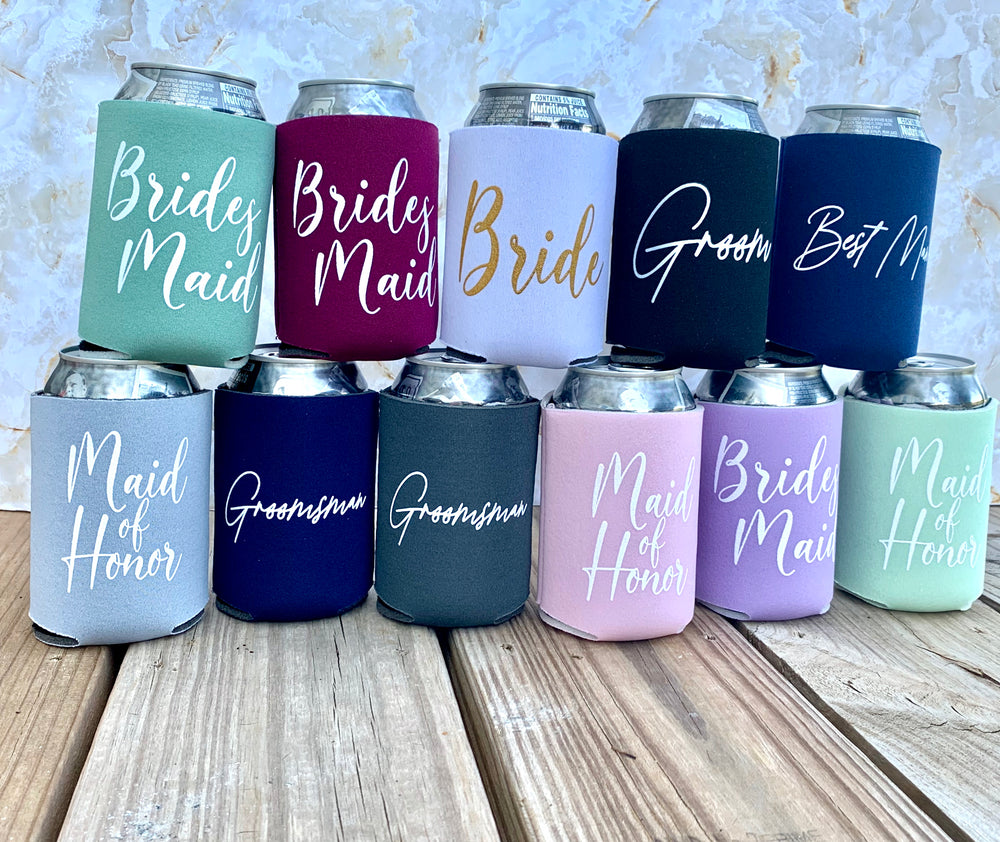 Wedding Can Coolers