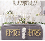 Mr. and Mrs Gold Chair Signs