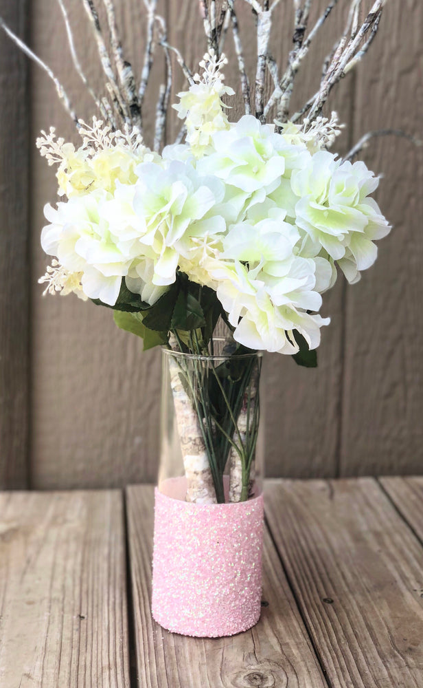 Glitter Dipped Vase - Knot and Nest Designs