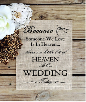 Burlap Wedding Sign - Knot and Nest Designs