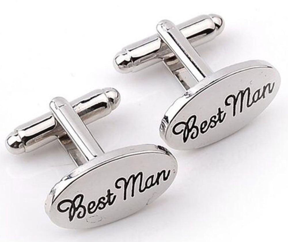 Load image into Gallery viewer, Groom or Best Man Cuff Links - Knot and Nest Designs