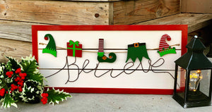 Believe Holiday Sign - Knot and Nest Designs