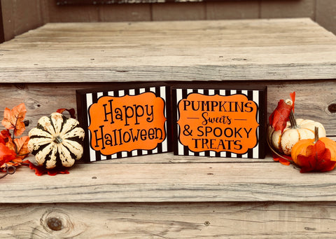 Halloween Decorative Signs - Knot and Nest Designs