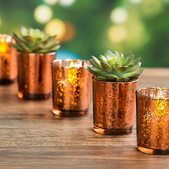 12 pack Gold Mercury Votives - Knot and Nest Designs