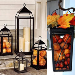 Large Rustic Metal Lantern - Knot and Nest Designs