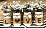 Love mason Jars set of 4