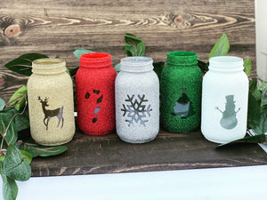 Load image into Gallery viewer, Holiday Mason Jars Choose your style - Christmas decorations - Knot and Nest Designs