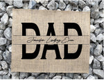 Custom Dad Sign