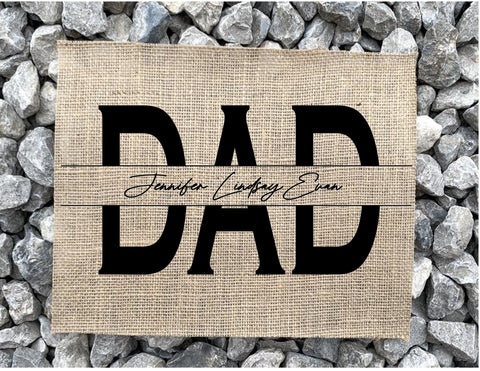 Custom Dad Sign - Knot and Nest Designs