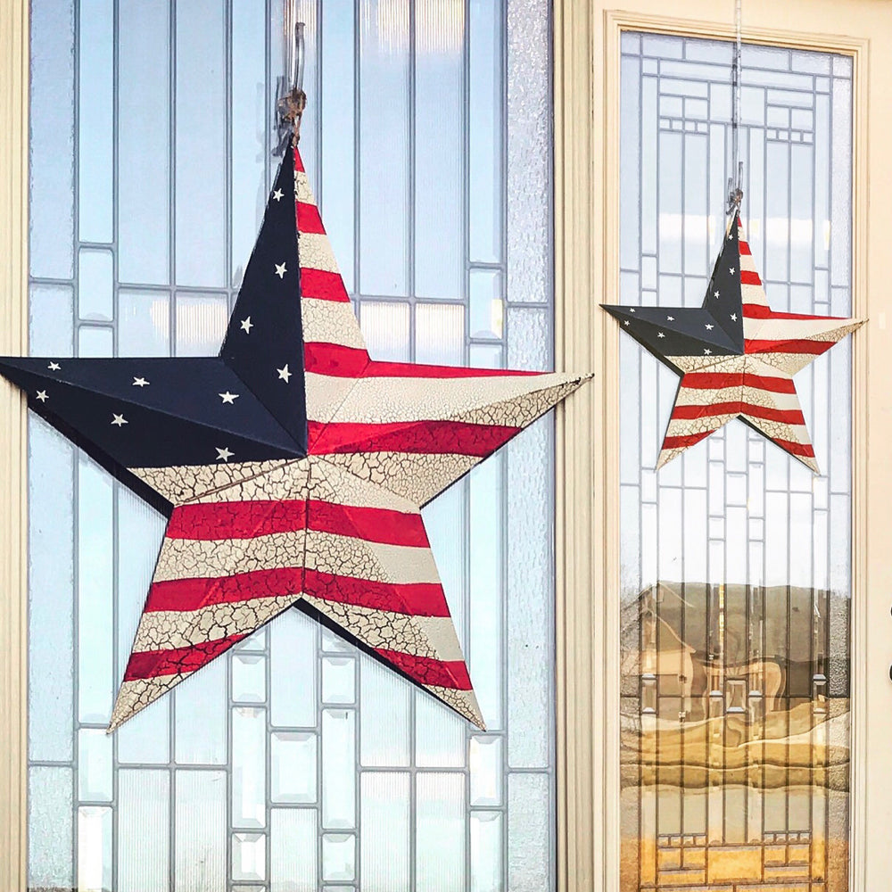Patriotic Star Rustic Wreath or wall hanging - Knot and Nest Designs