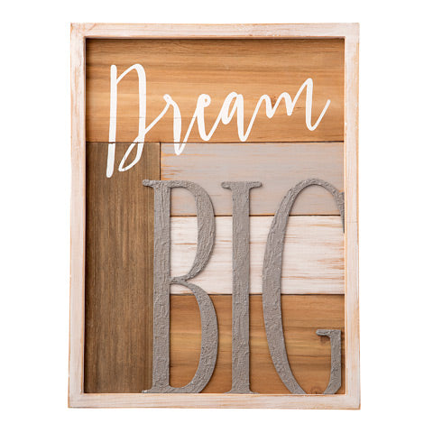 Dream Big Wood Sign - Knot and Nest Designs