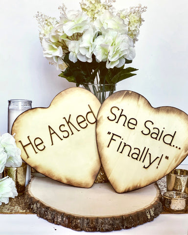Engagement photo props - Knot and Nest Designs