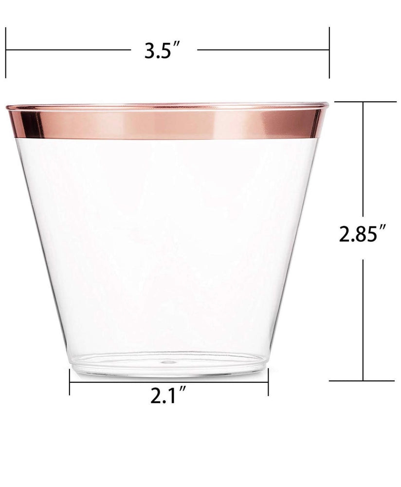 100 pack Rose gold or Gold Party Cups - Knot and Nest Designs