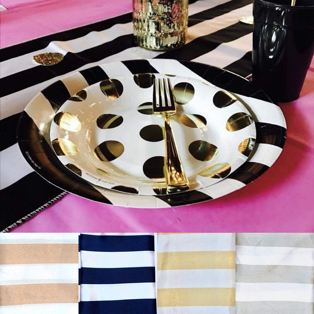 Load image into Gallery viewer, Striped Table Runner - Knot and Nest Designs