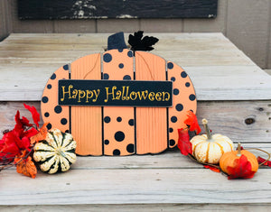 Happy Halloween Pumpkin Sign - Knot and Nest Designs