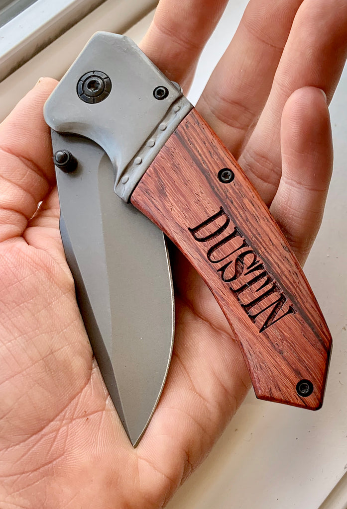 Father's Day Mens Pocket Knife - Knot and Nest Designs