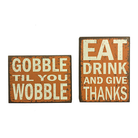Fun Thanksgiving Table Signs