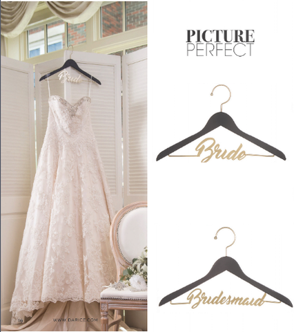 Bride or Bridesmaid Hanger - Knot and Nest Designs