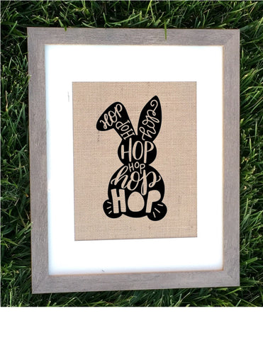 Burlap Easter Bunny Sign - Knot and Nest Designs