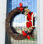 Holiday Wreath - Customized Choose your monogram