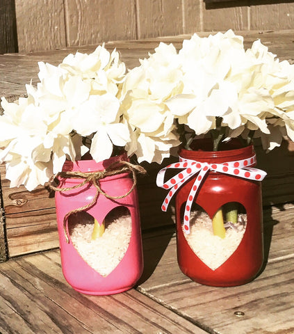 Valentine Mason Jar - Knot and Nest Designs