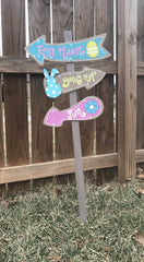 Easter Yard Sign - Knot and Nest Designs