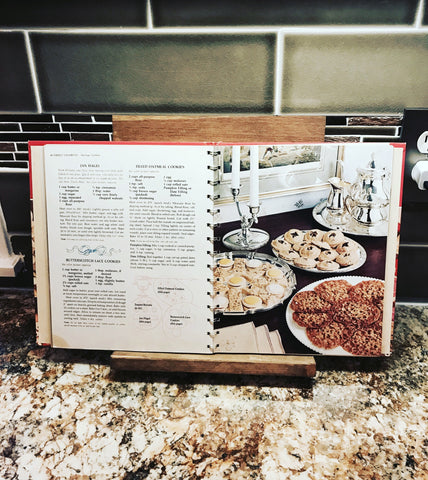 Rustic Kitchen cookbook or tablet stand - Knot and Nest Designs