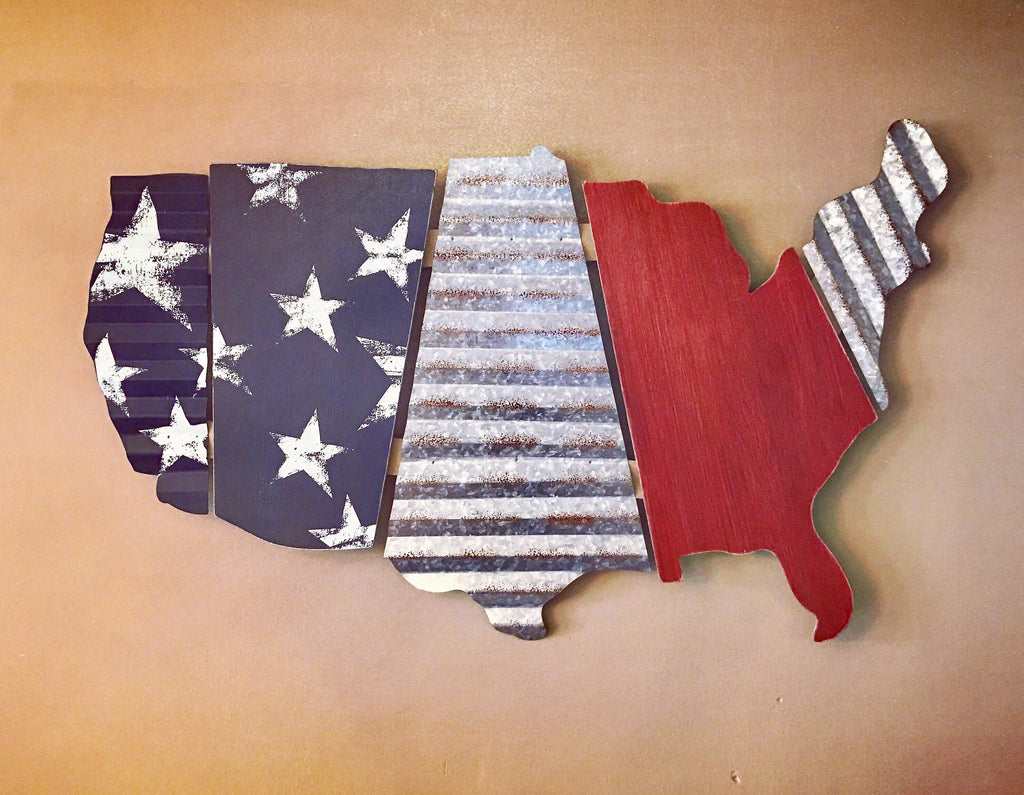 Patriotic USA Rustic wall hanging - Knot and Nest Designs