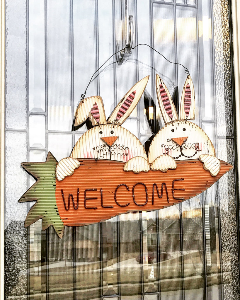 Bunny Welcome Sign