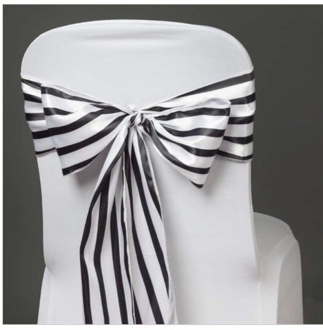 5   Striped Chair Sashes Choose Your Color