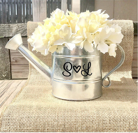 Custom Initials Watering Can - Knot and Nest Designs