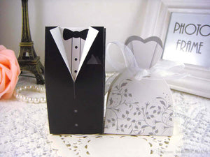 Load image into Gallery viewer, Bride and Groom Favor Boxes - Knot and Nest Designs