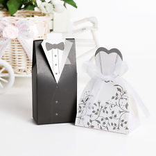 Bride and Groom Favor Boxes - Knot and Nest Designs