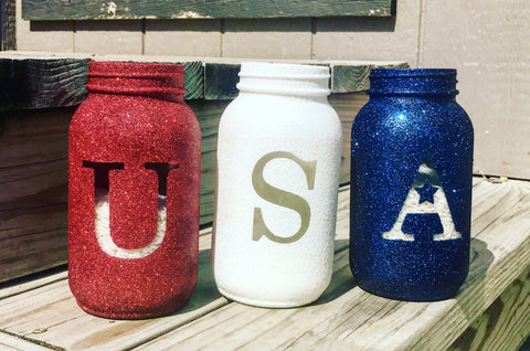 Fourth of July Mason jar 3 pack