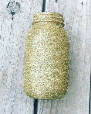 Load image into Gallery viewer, Fine Glitter Mason Jar - Knot and Nest Designs