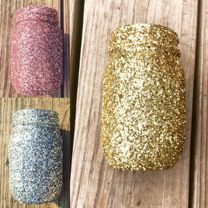 Load image into Gallery viewer, Glitter Mason Jar - Knot and Nest Designs