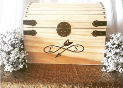 Rustic Customized Cardbox with personalized Initials