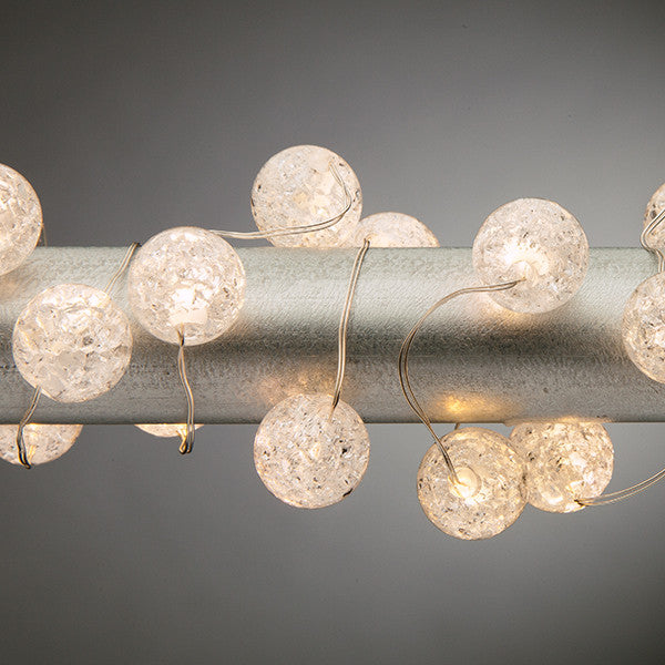 Elegant crackle lighted acrylic strand lights knot and nest designs