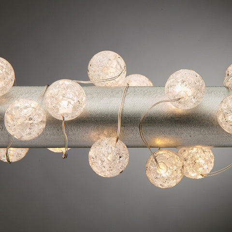 Elegant Crackle Lighted acrylic strand lights - Knot and Nest Designs
