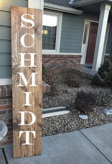 Custom wood sign - 5' tall - Knot and Nest Designs