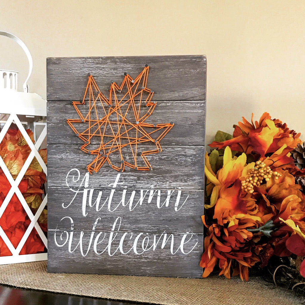 Welcome Autumn String Art - Knot and Nest Designs