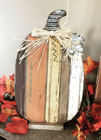 Rustic Wood Pumpkin