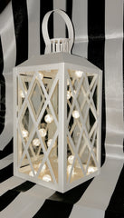 Large White Metal Lantern - Knot and Nest Designs