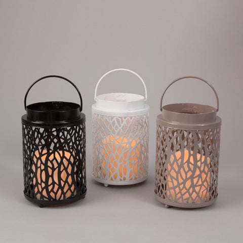 3 pack Lanterns with battery operated candle