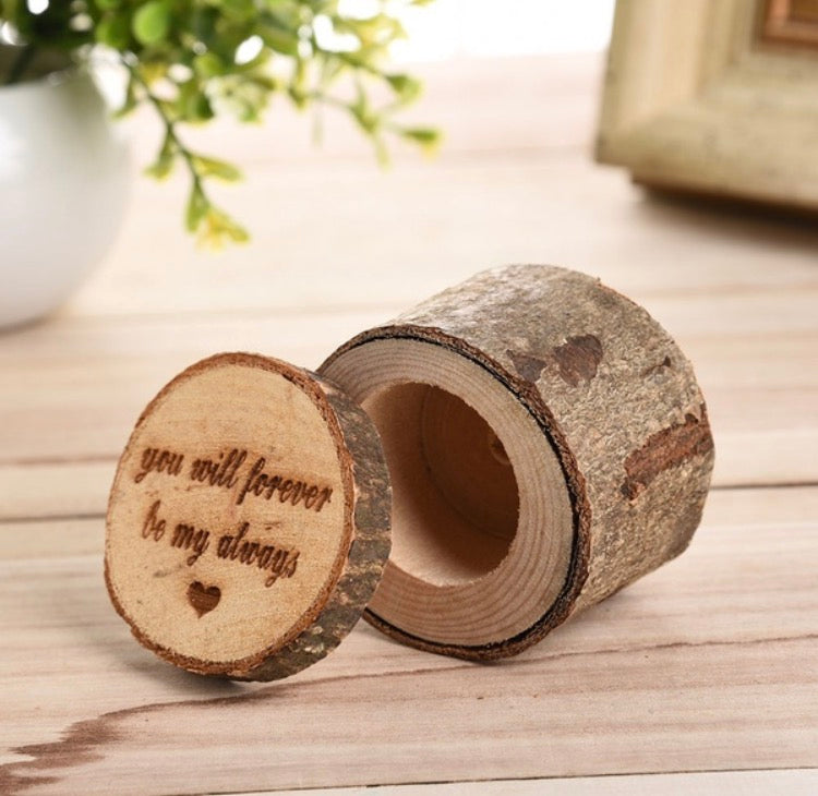 Wood ring box - You will forever be my always