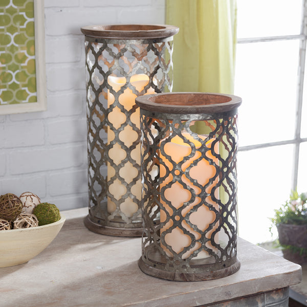 Load image into Gallery viewer, Large farmhouse Candle holder - Knot and Nest Designs