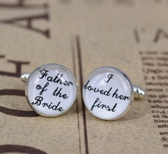 Father of the Bride Cuff Links - Knot and Nest Designs