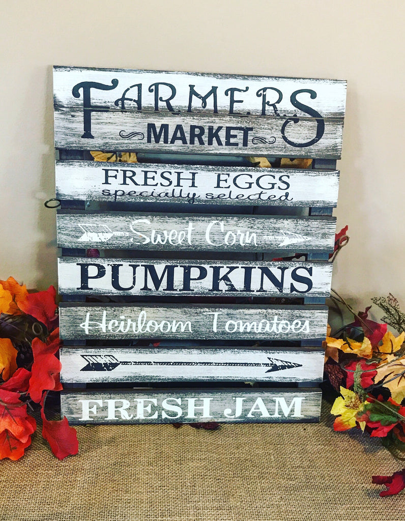Farmers Market Fall Sign - Knot and Nest Designs