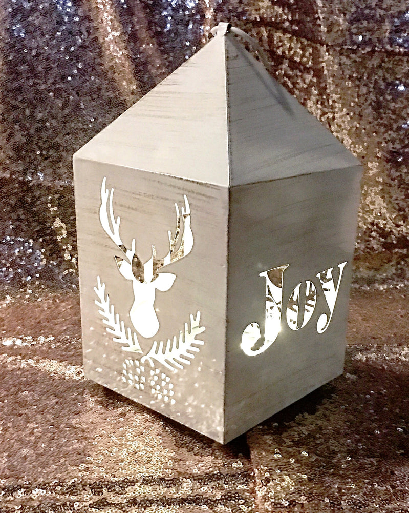 Rustic Holiday Lantern
